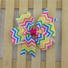 Girls chevron multi-color hairbow hair accessories