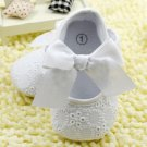 New baby girl's size 3-6 months white dress shoes for baptism or Sunday