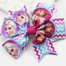 Newest style Frozen girls hair bow with aligator clip