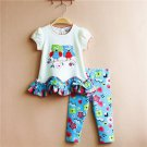 12 months Rare Editions owl 2 piece leggings set C-1000