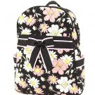 BELVAH QUILTED FLORAL DESIGN BACKPACK BOOK BAG QCF2746(BKPK) BS500 GIRL'S GIFT