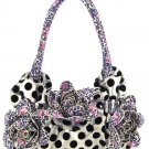 Floral Polka Dot & Leopard Handbag Tote Bag 9036-SLPU