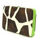 Ladies giraffe print flat wallet w/ green trim MG-238(GN) handbag gift BS150