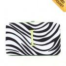 """Ladies initial """"I""""  zebra print thick flat wallet MNPZ57112(BKLM-I) ) BS100"""