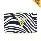 "Ladies initial ""V"" zebra print thick flat wallet MNPZ57112(BKLM-V) BS100"