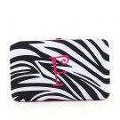 """Ladies initial """"F"""" zebra print thick flat wallet MNZ7112(BKFS-F) BS100"""