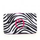 "Ladies initial ""O"" zebra print thick flat wallet MNZ7112(BKFS-O) BS100"