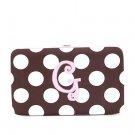 "Ladies initial ""G"" polka dots thick flat wallet MNPC57112(BRPK-G) B100"