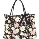 QUILTED FLORAL LARGE TOTE HANDBAG PURSE QCF2705(BKPK) BS500B