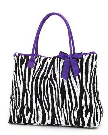 Belvah zebra print large black/white tote bag ZBQ2705(BKPP) handbag purse BS720
