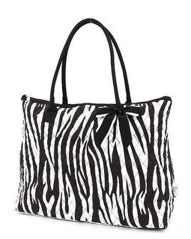 Belvah zebra print large black/white tote bag ZBQ2705(BKBK) handbag purse BS720