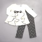 New baby girls toddler 24M months ivory top and leggings set B679 pants