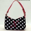 Polka dot initial N junior girl's handbag monnogramable purse