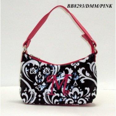 Damask initial M junior girl's handbag monnogramable purse