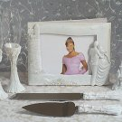 Knight in Shinning Amor 7pc wedding set guest book, pen set, toasting glasses, cake knife & server