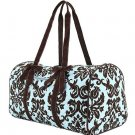 Belvah quilted damask pattern duffel bag gym bag DAQ01(TQBR)