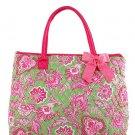 Belvah large pink floral print tote bag QF2705(LMFS) handbag purse