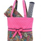 NEW BELVAH QUILTED FLORAL PATTERN 3PC DIAPER BAG MPQ1103L(NVFS) BABY GIFT