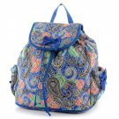 Beautiful quilted paisley print backpack book bag QNP2707_RB D495