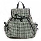 Beautiful black and white print backpack book bag QGM2707(BK)  D495