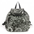 Beautiful quilted brown and turquoise paisley print backpack QPF2707_BK D495