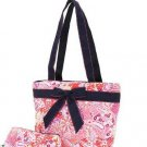 Quilted monogrammable paisley print insulated lunch bag PPQ27LT19(FSNV)  BS500