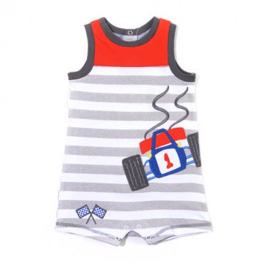 fdc09a77 Baby Boys 24 Months Buster Brown Racer Sleeveless Romper B239S