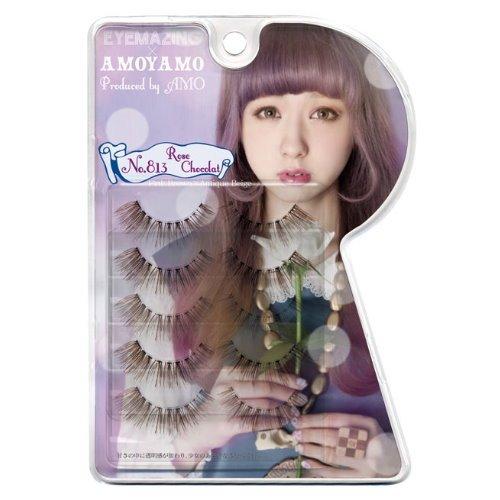 Eyemazing Amoyamo False Eyelashes NO.813 Rose Chocolat 5 Pairs- OUTLET