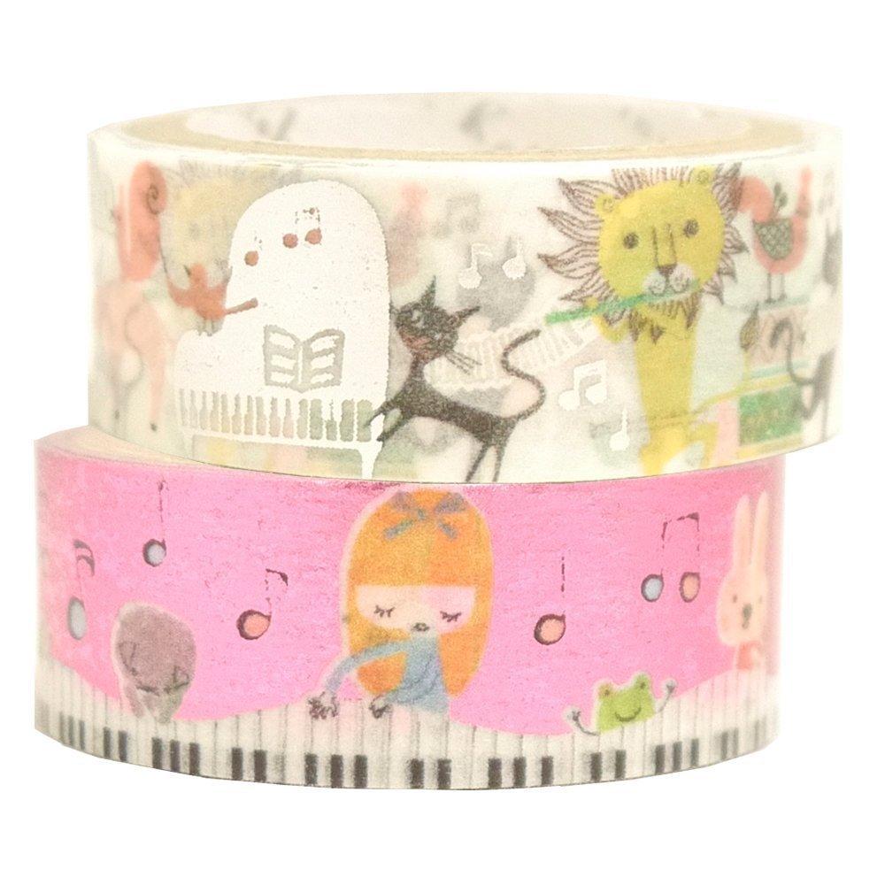 Masking Tape By Shinzi Katoh Collection Set of 2- Music