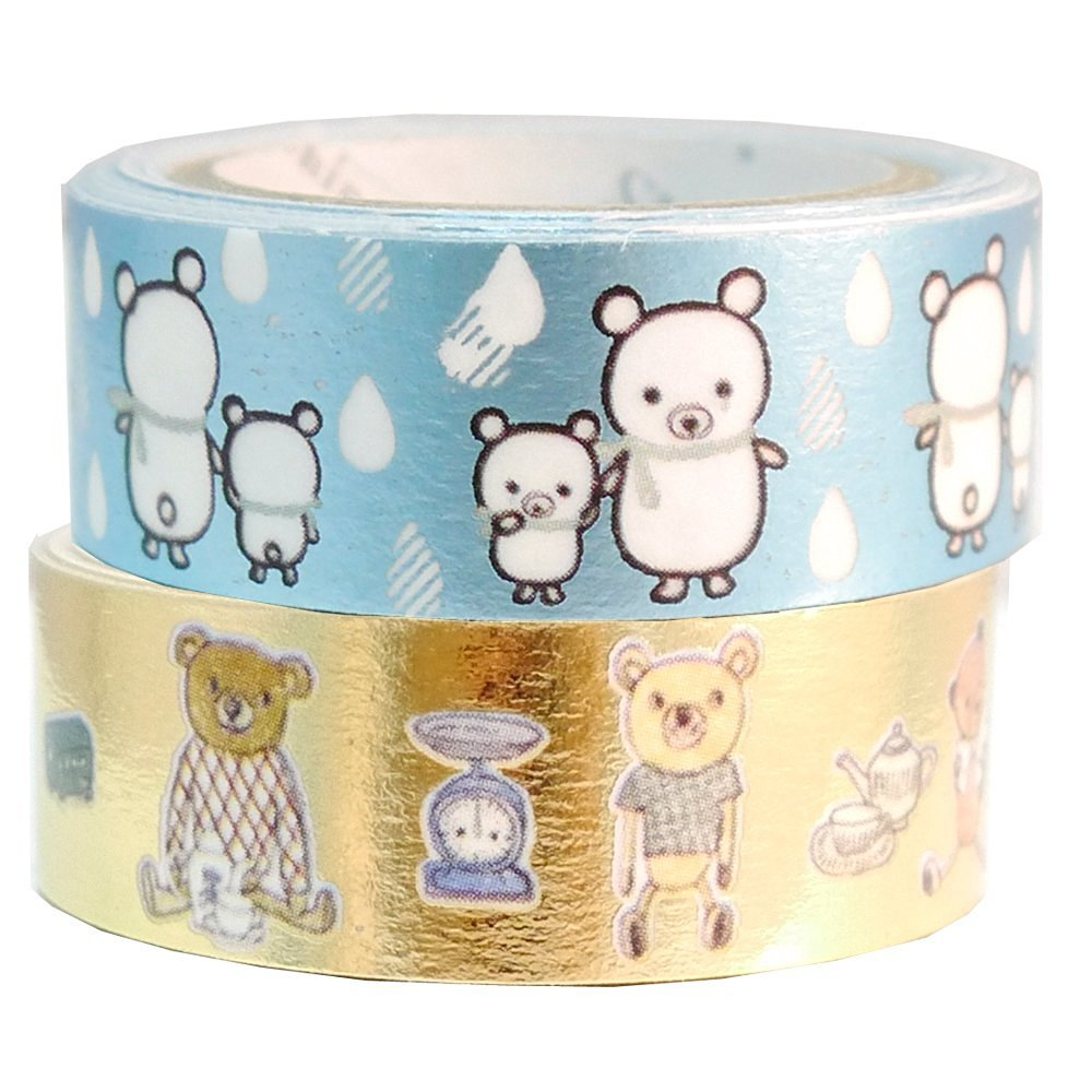 Masking Tape By Shinzi Katoh Collection Set of 2- Bears
