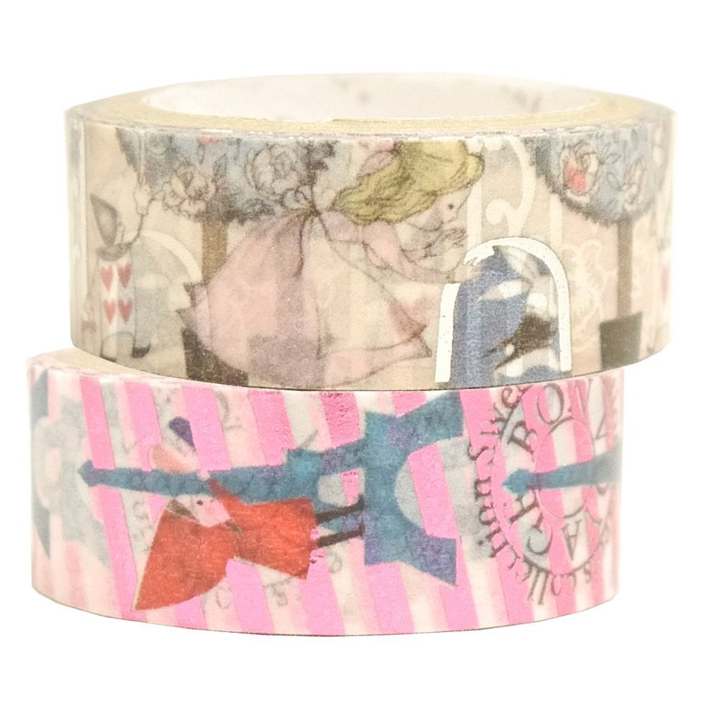 Masking Tape By Shinzi Katoh Collection Set of 2 - Alice Wonderland and Red Riding Hood