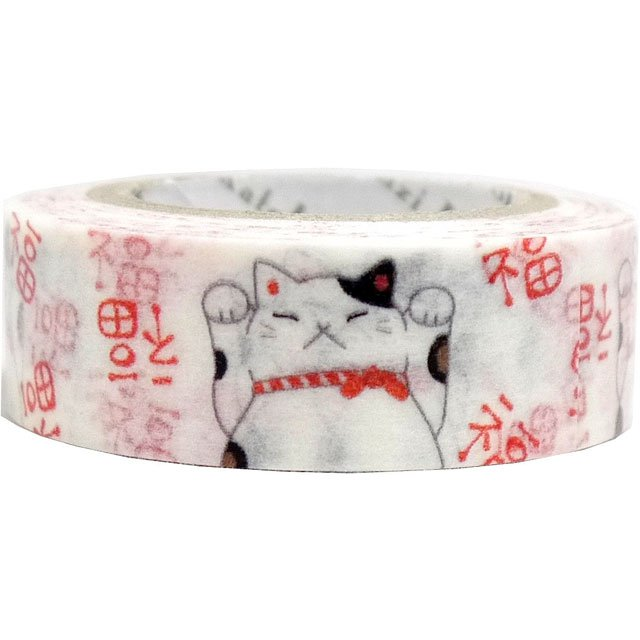Masking Tape By Shinzi Katoh Collection - Maneki Neko Washi Tape