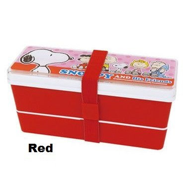 SALE! Snoopy and Friends Lunch Box - Bento Box - Red