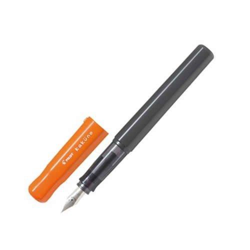Pilot Fountain Pen - Kakuno Series Orange - Fine Nib - Black Ink