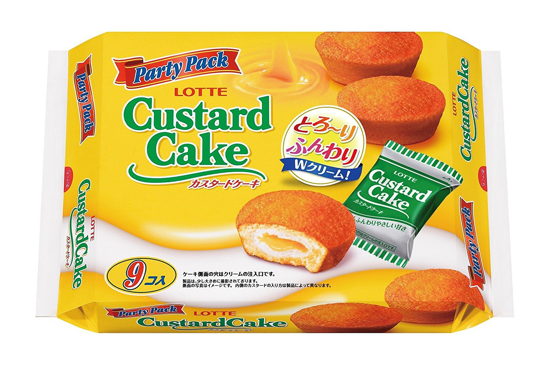 Lotte Custard Cake Japanese Snack