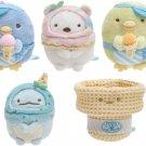 Sumikko Gurashi Set of 5 Plush Toy Mini Size - Pen Pen ICe Cream Serie