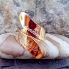 Washington DC Souvenir Ring, 1970s Gold Tone size 6.5, Adjustable Spoon Ring