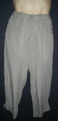 Gap Mens 14 Medium M Casual Pants Tencel Lyocell Olive Green Drawstring Trousers