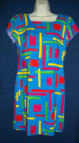 Jessica Howard Medium Multicolored Short Sleeve Below Knee Dress