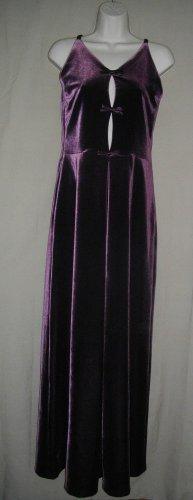 Laundry Shelli Segal 6 Small Purple A Line Polyester Spandex Long Halter Dress