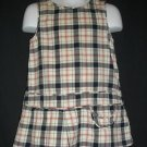 Gymboree Plaid Jumper 2 T Girls Toddler Multicolor Pullover Cotton Dress