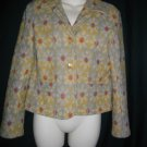 Citron of Santa Monica Small S Multicolored Yellow Single Breasted Cotton Jacket