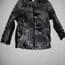 Athletech Extra Small XS Gray Black Childs Coat Girls Polyester Hooded Jacket