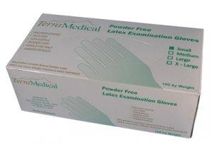 Powder Free Latex Gloves,  Box of 100 - Size Small