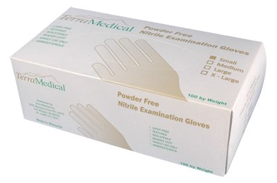 Nitrile Powder Free Exam Gloves, Box of 100, Size Small