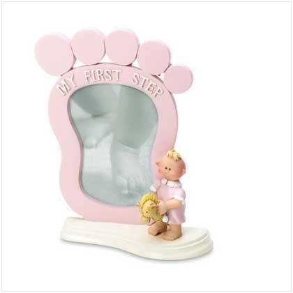 """Girl's """"My First Step"""" Frame"""