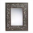 Carved Leaf-Framed Mirror