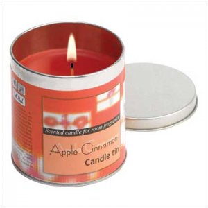 Apple Cinnamon Votive Candle Tin