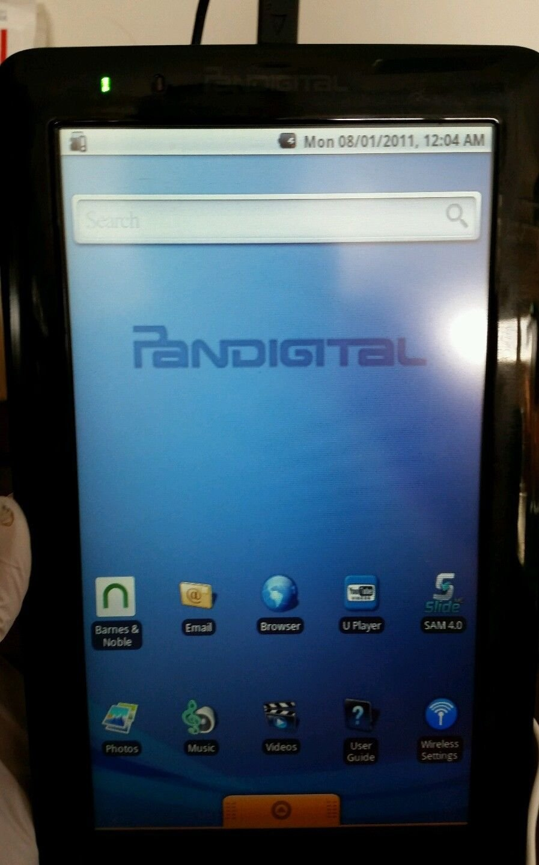 PanDigital PRD09TW-R9T2BLK1FR Tablet With Case & Stylus Pen