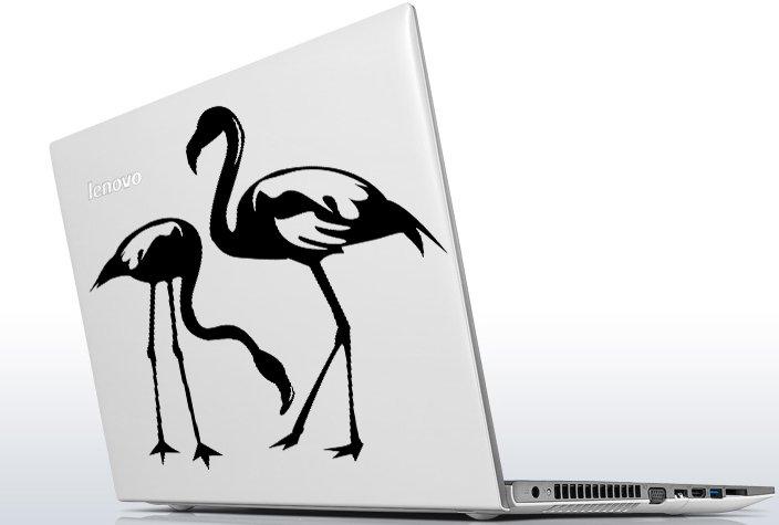 (12''x12'') Vinyl Wall Decal Flamingo Couple Birds Romantic Love Art Decor Sticker + Free Decal Gift